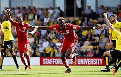 Tammy Abraham of Bristol City celebrates scoring a goal against Burton Albion - Mandatory by-line: Robbie Stephenson/JMP - 13/08/2016 - FOOTBALL - Pirelli Stadium - Burton upon Trent, England - Burton Albion v Bristol City - Sky Bet Championship
