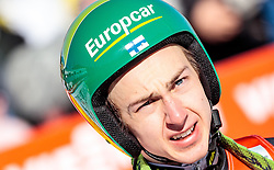 29.01.2017, Casino Arena, Seefeld, AUT, FIS Weltcup Nordische Kombination, Seefeld Triple, Skisprung, im Bild Ilkka Herola (FIN) // Ilkka Herola of Finland reacts after his Competition Jump of Skijumping of the FIS Nordic Combined World Cup Seefeld Triple at the Casino Arena in Seefeld, Austria on 2017/01/29. EXPA Pictures © 2017, PhotoCredit: EXPA/ JFK