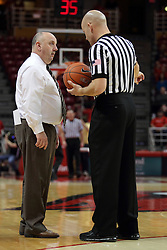 29 December 2014:  Marty Bell, Kipp Kissinger during an NCAA non-conference interdivisional exhibition game between the Quincy University Hawks and the Illinois State University Redbirds at Redbird Arena in Normal Illinois.