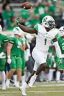 Marshall Thundering Herd safety C.J. Reavis (1) celebrates after recovering a fumble against the North Texas Mean Green during the 1st half at Apogee Stadium in Denton, Texas on October 8, 2016. (Cooper Neill for The Herald-Dispatch)