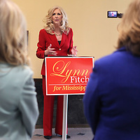 State Treasurer Lynn Fitch announces her candidacy for Attorney General Wednesday morning at the Lee County Justice Center in Tupelo.