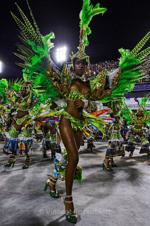 Passistas - dancers. Group A samba schools show.