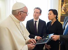 Vatican: Pope Francis Meets With Facebook CEO Mark Zuckerberg, 2 September 2016