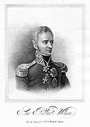 Robert Thomas Wilson (1777-1849) English soldier and military writer, 1821. Dismissed from the army for action against the mob at funeral of Queen Caroline, 1821. Reinstated 1830. MP for Southwark 1818: General 1840: Governor of Gibraltar 1841. From IH Adolphus 'The Royal Exile; or, Memoirs of Queen Caroline' by IH Adolphus. (London,  1821).   Engraving.