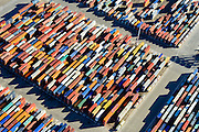 Nederland, Zuid-Holland, Rotterdam, 18-02-2015; Eerste Maasvlakte, Coloradoweg details container terminals. <br /> <br /> luchtfoto (toeslag op standard tarieven);<br /> aerial photo (additional fee required);<br /> copyright foto/photo Siebe Swart