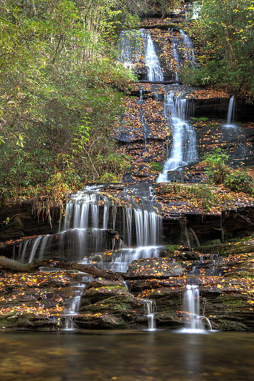 Tom Branch Falls as the foliage changes.