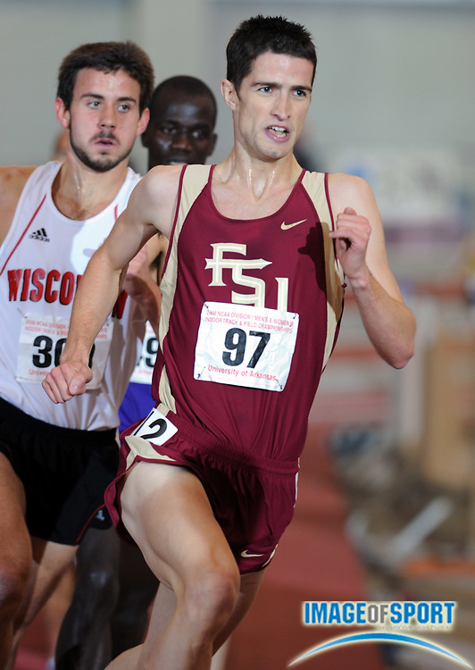 Mar 15, 2008; Fayetteville, AR, USA; Luke Gunn of Florida State was 11th in the 3,000m in 8:07.98 in the NCAA indoor track and field championships at the Randal Tyson Center.