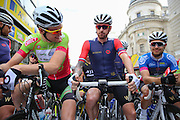 Sir Bradley Wiggins. of Great Britain and Team Wiggins at the start of the race at the Aviva Tour of Britain London Stage eight, Regent Street, London, United Kingdom on 13 September 2015. Photo by Phil Duncan.