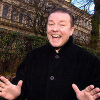 Actor and comedian Ricky Gervais goes for a walk along Great Western Road the morning after his performance in Glasgow.