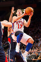 "Knicks point guard Jeremy Lin drives to the hoop in a game against the Atlanta Hawks during ""Linsanity,"" a frenzied era in New York basketball in February 2012. The undrafted player from Harvard was thought to be the solution to the Knicks' woes (no playoff series wins in 12 years) after putting up spectacular numbers, but only 26 games into his Knicks career he suffered an injury and the team didn't re-sign him."