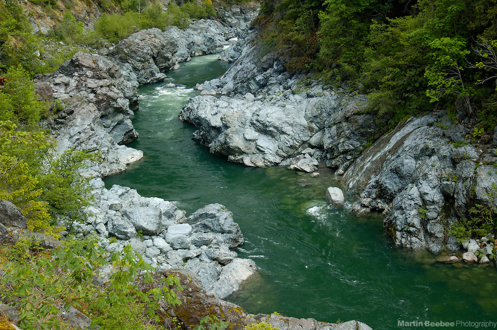 The Smith River flows through Oregon Hole Gorge, Smith River National Recreation Area, Six Rivers National Forest, California