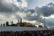 Mourners gather to pay respects to the late King Bhumibol Adulyadej, who passed away on 13 October, 2016.
