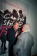 MARIO TESTINO; SIR PHILIP GREEN, Can we Still Be Friends- by Alexandra Shulman.- Book launch. Sotheby's. London. 28 March 2012.