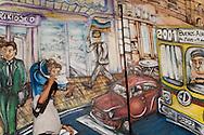 MURALES - mural paintings on 9th of July avenue  Buenos Aires - Argentina  .///.PEINTURE murale sur l'avenue du 9 juillet  Buenos Aires - Argentine .///.BUAIR029