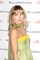 LONDON - FEBRUARY 10: Suki Waterhouse attends the WilliamVintage and Gillian Anderson private dinner at the St Pancras Renaissance Hotel, London, UK on February 10, 2012. (Photo by Richard Goldschmidt)