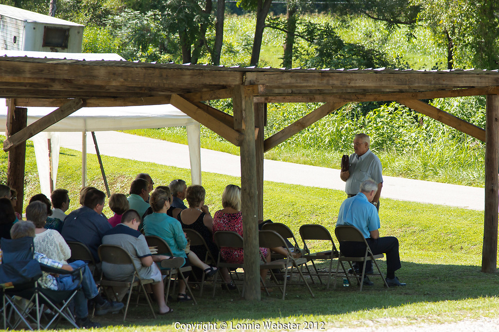 Minister Roger Ball is one of three preachers delivering sermons at Holbrook Family Reunion or Church