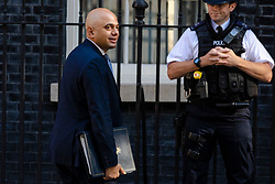 © Licensed to London News Pictures. 17/07/2018. London, UK. Home Secretary Sajid Javid arrives on Downing Street for the Cabinet meeting. Photo credit: Rob Pinney/LNP