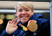 Paralympics GB's Jo Butterfield during the Manchester Olympic Parade in Manchester, United Kingdom on 17 October 2016. Photo by Richard Holmes.