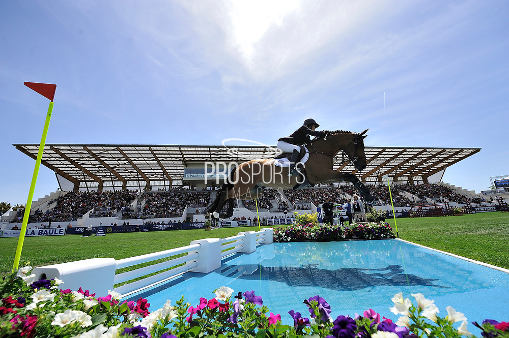 Gudrun PATTEET (BEL) riding SEA COAST JUST THE MUSIC during the International Show Jumping of La Baule 2018 (Jumping International de la Baule), on May 18, 2018 in La Baule, France - Photo Christophe Bricot / ProSportsImages / DPPI