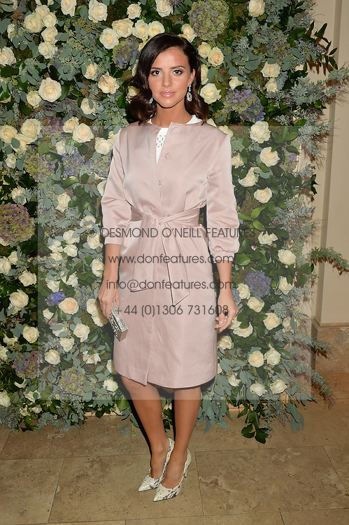 LUCY MECKLENBURGH at a private view of the Beulah Winter Autumn Winter collection entitled 'Chrysalis' held at The South Kensington Club, London SW7 on 24th September 2015.