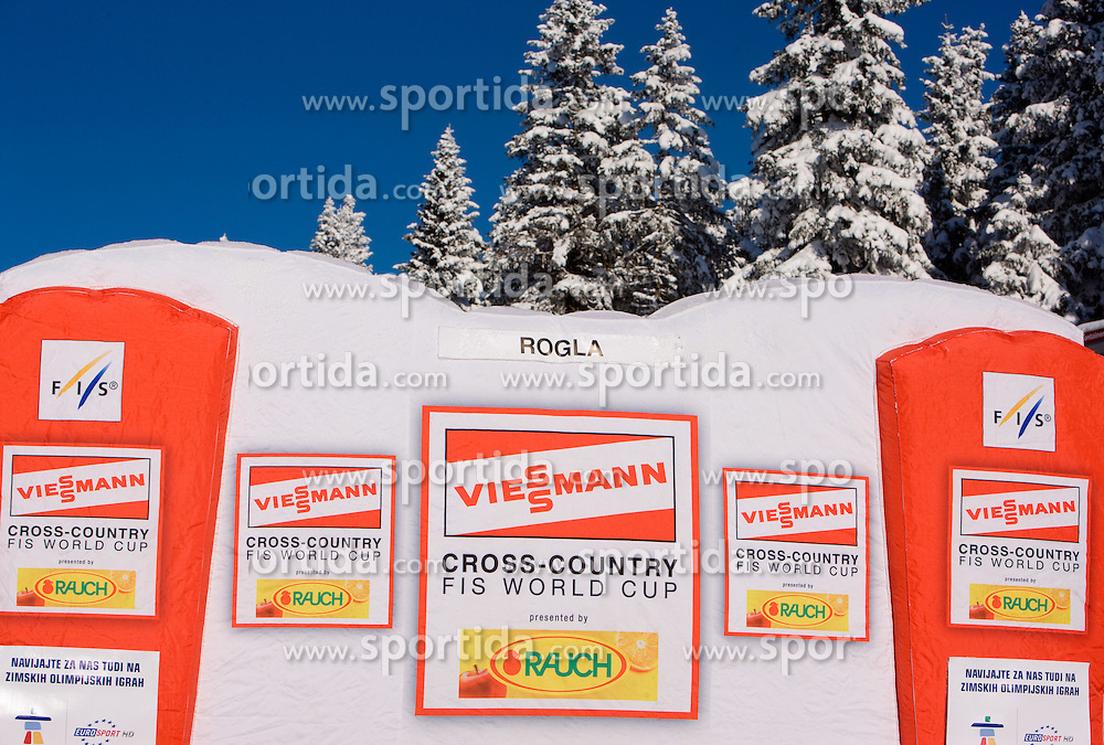 Winners stage at Ladies 15 km Classic Mass Start Competition of Viessmann Cross Country FIS World Cup Rogla 2009, on December 20, 2009, in Rogla, Slovenia. (Photo by Vid Ponikvar / Sportida)