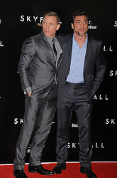 Daniel Craig and Javier Bardem during the Premiere of Skyfall in Madrid. October 29, 2012. Photo by Rogelio Pinate /Sevenpixnews / i-Images...SPAIN OUT.UK ONLY