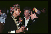 Christopher Balfour Lord Lichfield and Viscount Linley, Fancy dress party at Christies, 1984  approx© Copyright Photograph by Dafydd Jones 66 Stockwell Park Rd. London SW9 0DA Tel 020 7733 0108 www.dafjones.com