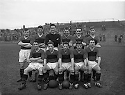 08/03/1959<br /> 03/08/1959<br /> 08 March 1959<br /> Soccer: Bohemians v Cork Hibernians, second round of F.A.I. Cup at Dalymount Park, Dublin. The Bohemians team.