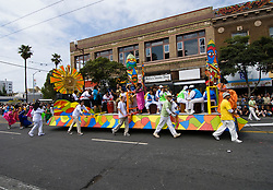 California: San Francisco Carnaval festival parade in the Mission District. Photo copyright Lee Foster. Photo # 30-casanf81494