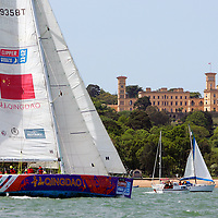 CLIPPER, QINGGAO, OSBORNE HOUSE, 2013, UK, Isle of Wight, Cowes, Round the Island Race, J P Morgan Sports Photography