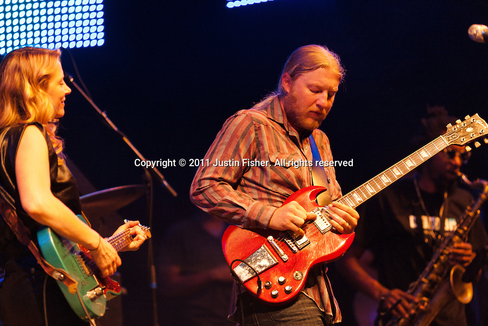 Tedeschi Trucks perform at Bohemian Nights, New West Fest, Fort Collins Colorado, August 8 2011.