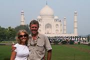 Taj Mahal & Renee & Pete<br /> Agra<br /> Uttar Pradesh,  India<br /> UNESCO World Heritage Site