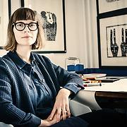 Olga Krasanova Visual Artist and Printmaker at her studio, Fire Station Creative, Dunfermline.