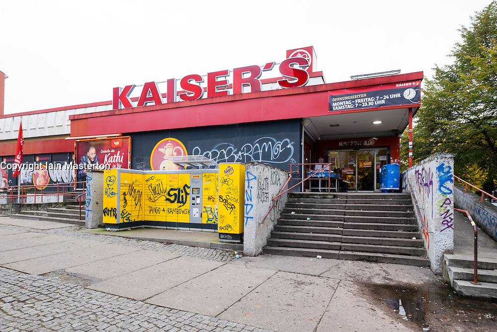 Exterior of Kaiser's supermarket in Berlin Germany