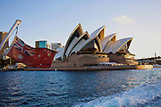 On a ferry going passed the Sydney Opera House, Sydney, Australia.