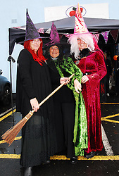 Westport Country Markets held a Halloween Theme at their market on Thursday morning Evelyn, Dotty and Amanda were spookly dressed as Witches...Pic Conor McKeown
