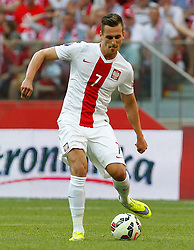 13.06.2015, Nationalstadion, Warschau, POL, UEFA Euro 2016 Qualifikation, Polen vs Greorgien, Gruppe D, im Bild ARKADIUSZ MILIK POL // during the UEFA EURO 2016 qualifier group D match between Poland and Greorgia at the Nationalstadion in Warschau, Poland on 2015/06/13. EXPA Pictures © 2015, PhotoCredit: EXPA/ Pixsell/ MICHAL CHWIEDUK<br /> <br /> *****ATTENTION - for AUT, SLO, SUI, SWE, ITA, FRA only*****