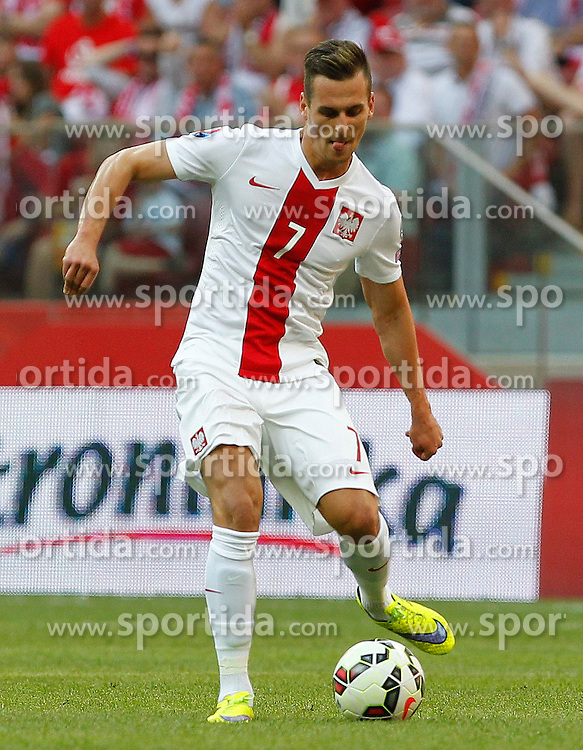 13.06.2015, Nationalstadion, Warschau, POL, UEFA Euro 2016 Qualifikation, Polen vs Greorgien, Gruppe D, im Bild ARKADIUSZ MILIK POL // during the UEFA EURO 2016 qualifier group D match between Poland and Greorgia at the Nationalstadion in Warschau, Poland on 2015/06/13. EXPA Pictures &copy; 2015, PhotoCredit: EXPA/ Pixsell/ MICHAL CHWIEDUK<br /> <br /> *****ATTENTION - for AUT, SLO, SUI, SWE, ITA, FRA only*****