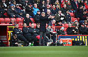Charltomn Head Coach Jose Riga appealing for a foul during the Sky Bet Championship match between Charlton Athletic and Blackburn Rovers at The Valley, London, England on 23 January 2016. Photo by Matthew Redman.