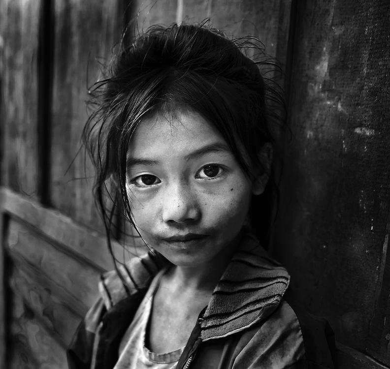 Khamu girl, Laos.