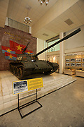 Army Museum. Russian-made T-54 tank Nr. 843 who entered Saigon's palace grounds first during the Vietnam war by crushing the entrance gate on April 30th, 1975.