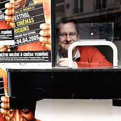 Au guichet du cinema vendome. Festival des cinemas Africains a Ixelles, près de Bruxelles. 3 mars 2009. Photo : Antoine Doyen