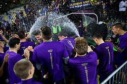Players of Maribor celebrate after the football match between NK Maribor and ND Triglav in 34th Round of Prva liga Telekom Slovenije 2013/14, on May 13, 2014 in Stadium Ljudski vrt, Maribor, Slovenia. NK Maribor became Slovenian National Champion 2014. Photo by Vid Ponikvar / Sportida