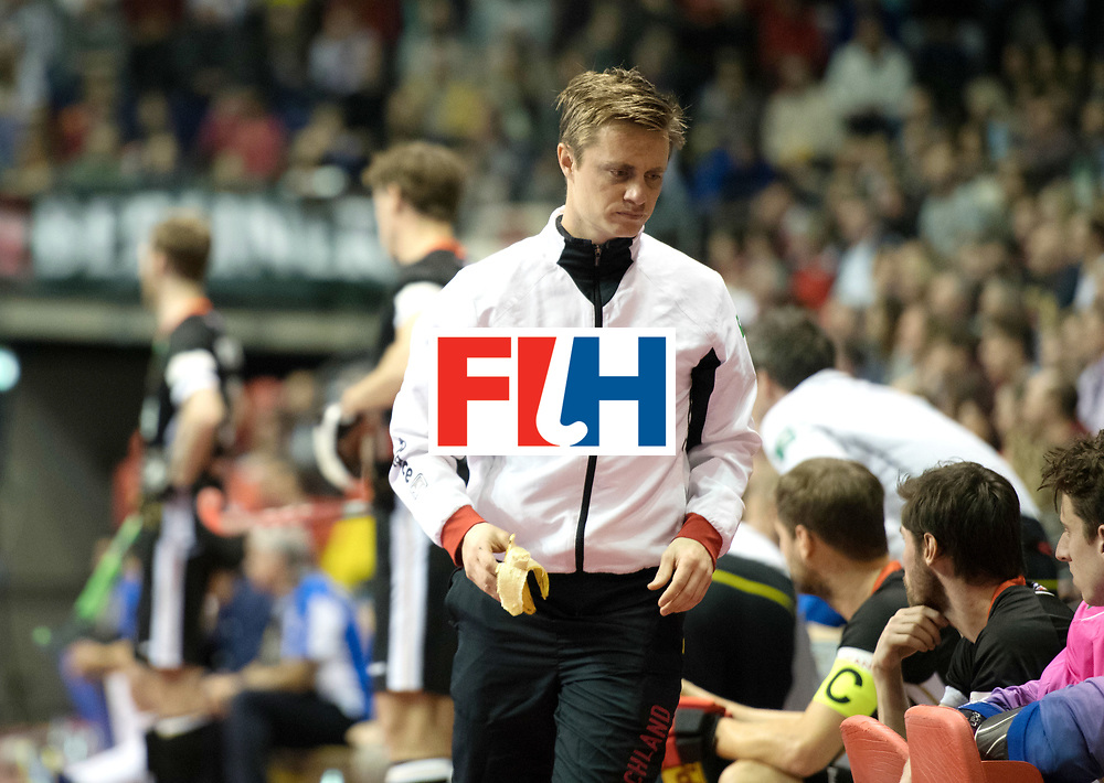 BERLIN - Indoor Hockey World Cup<br /> SF1 Germany - Iran<br /> foto: Mats Grambusch <br /> WORLDSPORTPICS COPYRIGHT FRANK UIJLENBROEK