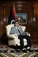 Libya: Prime Minister of the National Salvation Government based in Tripoli (Libya), Khalifa Al-Ghawi poses for a portrait in the parliament building in Tripoli. Alessio Romenzi