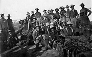 Segregated company of United States soldiers (Buffalo Soldiers) in 1898 during the Spanish-American war.