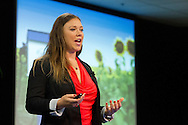 Virginia Klausmeier speaks at the TEDx Bay Area Ignite event Celebrating Global Women Entrepreneurs held at the LinkedIn headquarters in Mountain View, California on Saturday December 1, 2012. (© Photo by Jakub Mosur)