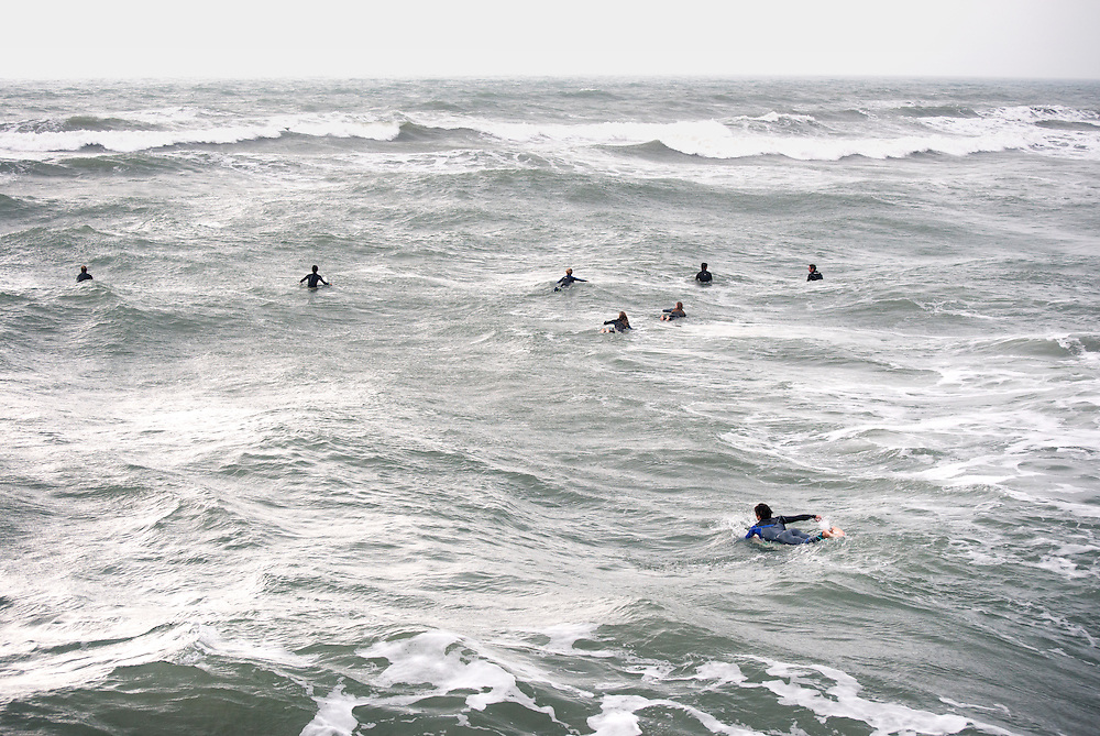 Surfing on Texas Coast