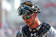Tyler Flowers #17 of the Chicago White Sox walks back to the dugout during a game against the Minnesota Twins on September 16, 2012 at Target Field in Minneapolis, Minnesota.  The White Sox defeated the Twins 9 to 2.  Photo: Ben Krause