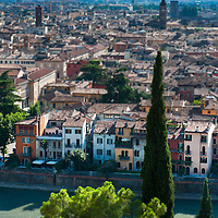 A tilt view of Verona from Colle San Pietro